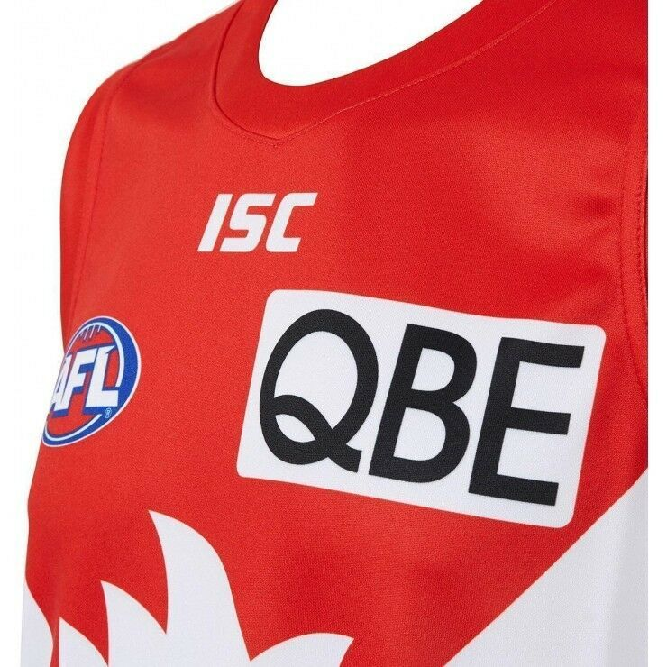 Sydney-Swans-AFL-2018-Home-ISC-Guernsey-Adults-Kids-amp-Toddler-Sizes-In-Stock thumbnail 26