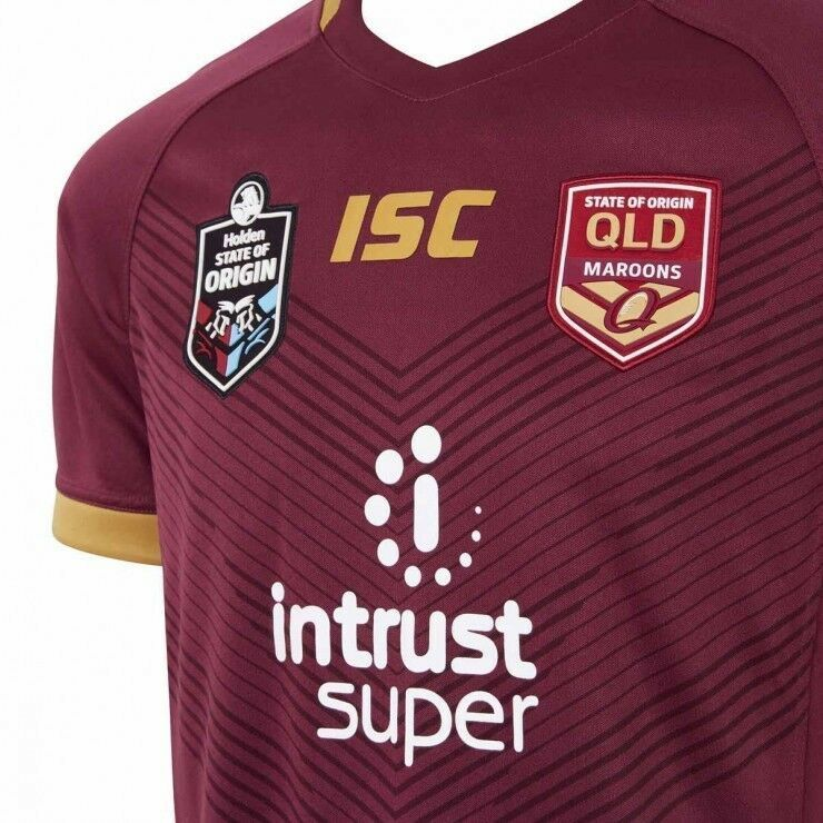 Queensland-Maroons-State-of-Origin-On-Field-Jersey-Kids-Sizes-6-14-T8 thumbnail 7